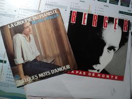 MICHEL BERGER. PAIRE DE 45 TOURS. 1980 / 1984 Y A PAS DE HONTE / CA LA FAIT PLEURER POUR UN RIEN / LA GROUPIE DU PIANIS - Vinyles