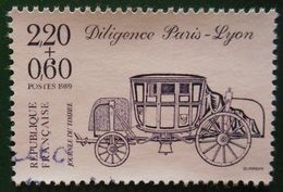 2578 France 1989 Oblitéré Journée Du Timbre Diligence Paris Lyon - France