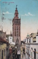 SEVILLA. LA GIRALDA. CRS. CPA CIRCULEE A BUENOS AIRES AÑO 1929 BANDELETA PARLANTE - BLEUP - Sevilla