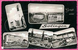 Cp Dentelée - Gruss Aus Solingen - Multivues - Am Dreieck - Stadtkirche - Berufsschule - Animée - JAKOB KRAPOHL - 1959 - Solingen