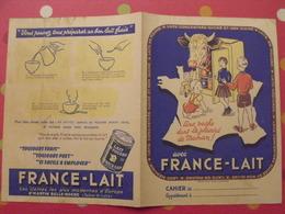 Protège-cahier France-lait. En Poudre, Concentré, Sucré, Médicaux. St Martin Belle Roche (Saone & Loire) - Protège-cahiers