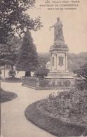 SANTIAGO DE COMPOSTELA. ESTATUA DE FIGEROA. HAUSER Y MENET. CPA VOYAGEE 1908 - BLEUP - Santiago De Compostela