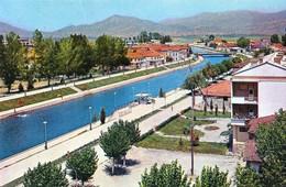Macedonia Struga 1966 / River, Bridge, Panorama - Macédoine