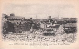 CPA ANGERS (49) COMMISSION DES ARDOISIERES (ANCIENNEMENT CH. & G. LARIVIERE) - COMPTAGE Et MISE EN STOCK - Angers