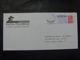 97- PAP Réponse Lamouche Phil@poste Fondation Raoul Follereau 06R517 Obl Pas Courant - Entiers Postaux