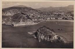 SAN SEBASTIAN. VISTA DESDE EL MONTE IGUELDO. FOTO GALARZA. CPA CIRCULEE AÑO 1933 BUENOS AIRES - BLEUP - Guipúzcoa (San Sebastián)