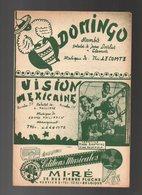 Partition Domingo Et Vision Mexicaine  - Deux Rumba - Partitions Musicales Anciennes