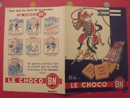 Protège-cahier  Le Choco BN, Nantes. Tous Les Jours De La Semaine - Protège-cahiers