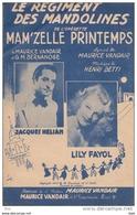 """Partition . """" Le Régiment De Mandolines """" : Operette Avec Jacques Helian Et Lily Fayol . - Partitions Musicales Anciennes"""