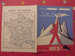 Protège-cahier Pain D'épices Brochet Frères. En Avant La Jeune France ! - Protège-cahiers