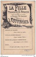 """Partition : """" La Fille Du Tambour - Major . Opéra - Comique  En Trois Actes .  Musique De J . Offenbach . - Partitions Musicales Anciennes"""