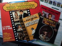 ENNIO MORRICONE. LOT D UN 33 TOURS ET DE TROIS 45 TOURS. 1970 / 1981 POUR UNE POIGNEE DE DOLLARS / ET POUR QUELQUES DOL - Soundtracks, Film Music