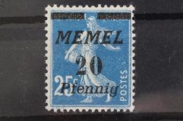 Memel, MiNr. 57, Postfrisch / MNH - Klaipeda