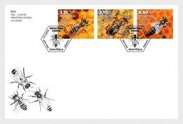 H01 Croatia 2019 Croatian Fauna Carniolan Honey Bee FDC - Croatie