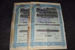 Banque Foncière Et Immobilière Belgo-Tunisienne - Banque & Assurance