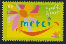 """YT 3379a ** 3F Jaune Merci, Sans """"ITVF"""" - Varieties: 2000-09 Mint/hinged"""