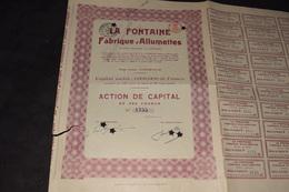 La Fontaine Fabrique D'Allumettes 500 Frs Perforé Complet - Industrie