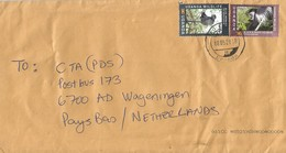 Uganda 2018 Kampala Black & White Colobus Blue Monkey Ape Flower Cover - Oeganda (1962-...)