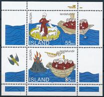 Mi Block 15 CEPT Europa Discoveries & Inventions / Saint Brendan Of Clonfert Iceland Faroe Islands Discovery Joint Issue - 1944-... Republik