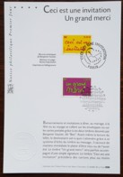 FDC Sur Document - YT N°3636, 3637 - MESSAGES / INVITATION / MERCI - 2004 - FDC
