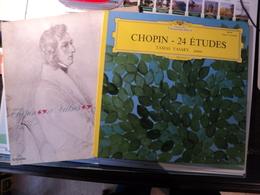 CHOPIN. PAIRE DE 33 TOURS. 1960 / 1965 DEUTSCHE GRAMMOPHON 636 454 / COLUMBIA FCX 820. 24 ETUDES OPUS 10 ET 25 AU PIANO - Classique