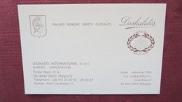 CARTE DE VISITE DASKALIDES GENT BELGIQUE - Visiting Cards