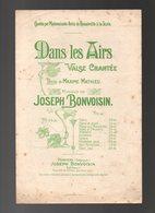 Partition Dans Les Airs Valse Chantée Par Mlle Anita De Romainville à La Scala - Partitions Musicales Anciennes