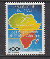 1988 Mali OAU Maps    Complete Set Of 1  MNH - Mali (1959-...)