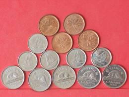 CANADA    - 14 COINS     - (Nº10952) - Canada