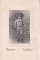 TOURNAI Jeune Garçon Photo Sur Carton A4 Par MESSIAEN Juste Avant Guerre 14 - Photos