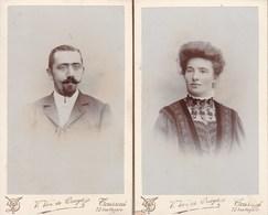 TOURNAI Un Couple Photo CDV Vers 1890-1900 Par  V. VAN DE CRUYS - Photos