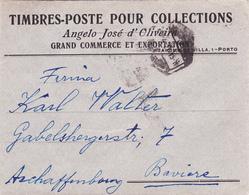 Portugal -envelope Circulado Do Porto Para Baviera (Angelo José D,Oliveira) - Postmark Collection