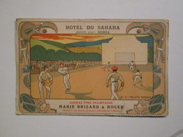 CPA BISKRA Hotel Du Sahara  Rare Vers 1898  : Pelote Basque - Algérie