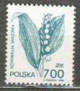 POLAND MNH ** 3133 Plante Officinale Muguet - 1944-.... Republik