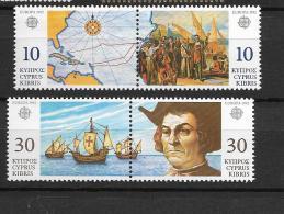 1992 MNH Cept Cyprus - Europa-CEPT