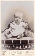 TOURNAI  Jeune Enfant Bébé Photo CDV Par  Van De CRUYS Vers 1890-1900 - Photos