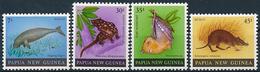 Mi 398-401 ** MNH / Dugong, New Guinean Quoll, Dasyurus Albopunctatus, Tube-nosed Bat, Nyctimene, Echymipera Rufescens - Papouasie-Nouvelle-Guinée