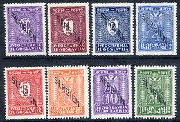 SERBIA (German Occ.) 1941 Postage Due Set.LHM / *.  Michel Porto 1-8 - Occupation 1938-45