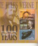 2005 Lesotho Jules Verne Literature Science Fiction Complete Set Of 2 Sheets MNH - Lesotho (1966-...)