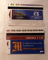 ITALY 2019, 2 ROME METRO TICKETS USED - Europe
