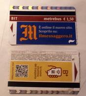 ITALY 2019, 2 ROME METRO TICKETS USED - Metropolitana