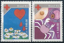 Mi 2515-16 ** MNH / Health Care, Blood Donation, Fight Against Cancer - Brésil
