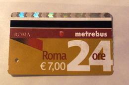 ITALY 2019, DAYLY ROME METRO TICKETS USED - Metropolitana