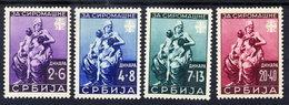 SERBIA (German Occ.) 1942 Poor Relief Set LHM / *.  Michel 82-85 - Occupation 1938-45