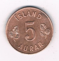 5 AURAR 1960 IJSLAND /2485/ - Islande