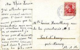 Cachet Ambulant OBERHAMMER-VALLERYSTHAL-DREIBRUNNEN, Datée Du 08/09/1909 - Alsace-Lorraine