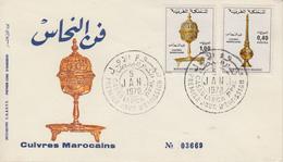 Enveloppe  FDC  1er  Jour   MAROC    Cuivres  Marocains   1978 - Maroc (1956-...)