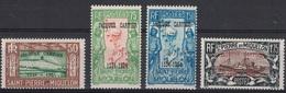 ST PIERRE ET MIQUELON - N°159a A 159d - COTE 31€ - SERIE AVEC SURCHARGE JACQUES CARTIER. - St.Pierre & Miquelon