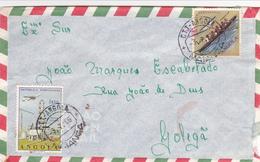 Portugal - Colónias-  3 Envelopes De Angola -   +     -  ( Lourenço Marques  Só A Frente Do Envelope) - Santarem