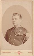 MONS Photo CDV Du Colonel BEIRLAEN Par Emile QUEQUIN Années 1880-1890 - Guerre, Militaire